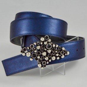 Bleu irisé / Noir