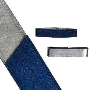 Bleu irisé / Gris argenté