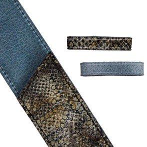 """Motif """"python"""" Taupe / Jean"""