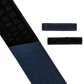 "Motif ""lézard"" Noir / Bleu nuit"