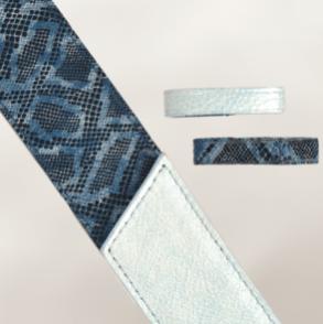 "Bleu ciel / Imprimé ""lézard"" bleu"