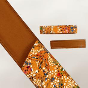 Motif mosaïque orange / Camel